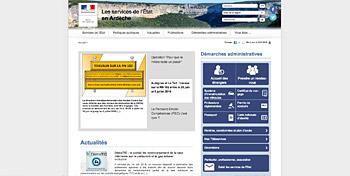 Lien vers le site de la préfecture de l'Ardèche